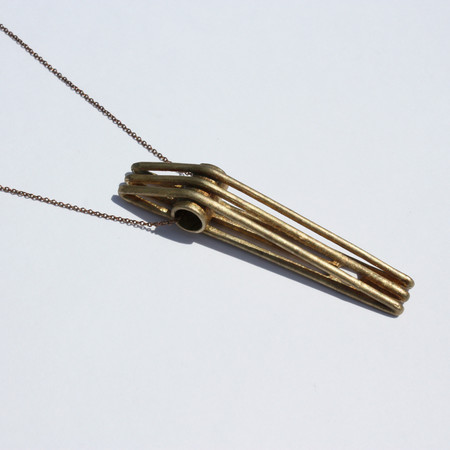 Metalepsis Projects Bridge Necklace | Unfinished bronze