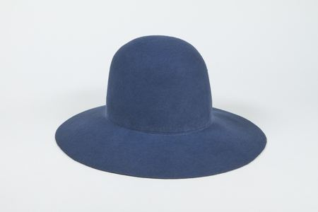 Clyde Wide Brim Dome Hat in Slate Wool