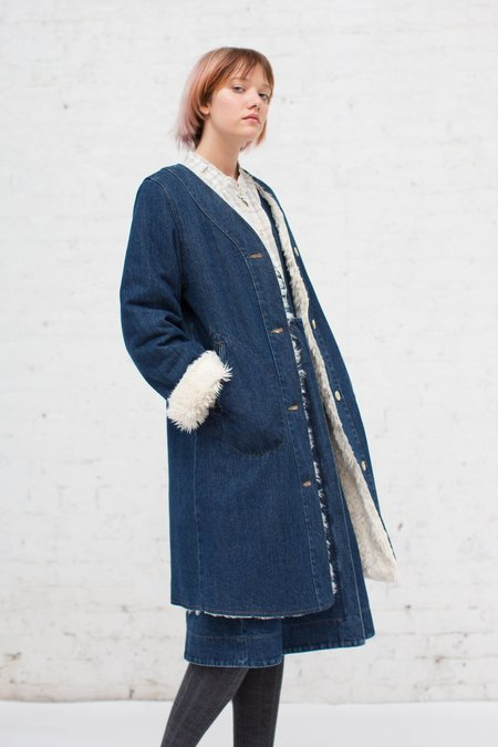 Caron Callahan Elisa Liner Coat in Denim