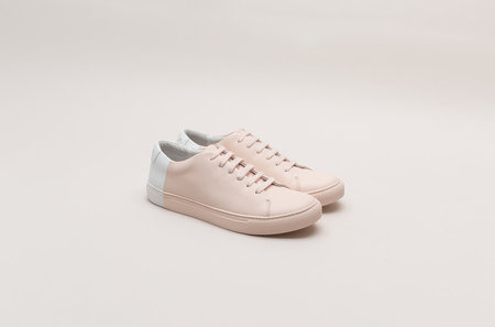 THEY Two-tone Low Sneakers - Blush/White