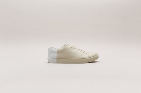 THEY New York Two-Tone Low in Beige/White