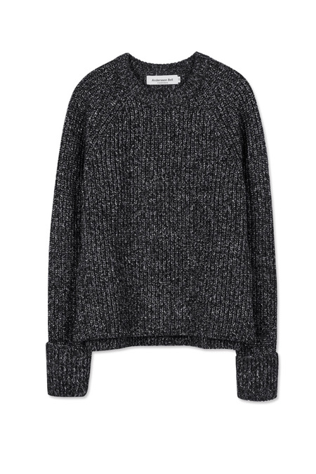 A. B Cotwold Ribbed Knit- Charcoal
