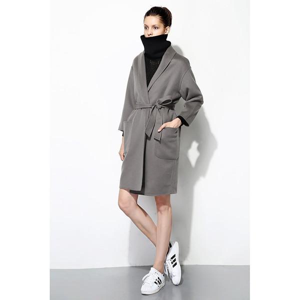 FEW MODA Oversized Structured Wool Coat