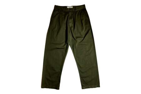 Universal Works Double Pleat Pant Military Olive