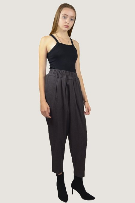 Black Crane Carpenter Pant - Plum
