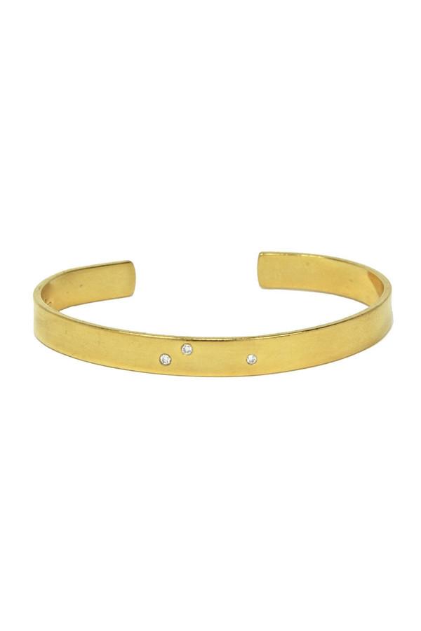 SíSí Design Three Diamond Gold Cuff
