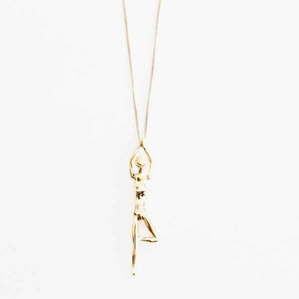 BISJOUX Tree Pose Pendant Necklace