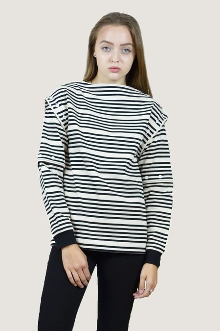 Opening Ceremony Striped Transformer Top