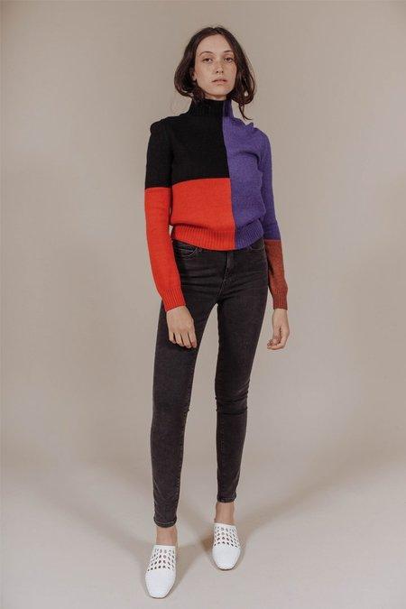 Mara Hoffman Janet Sweater in Red Multi