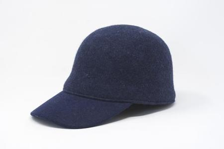 WYETH DAD CAP  Deep Navy Wool
