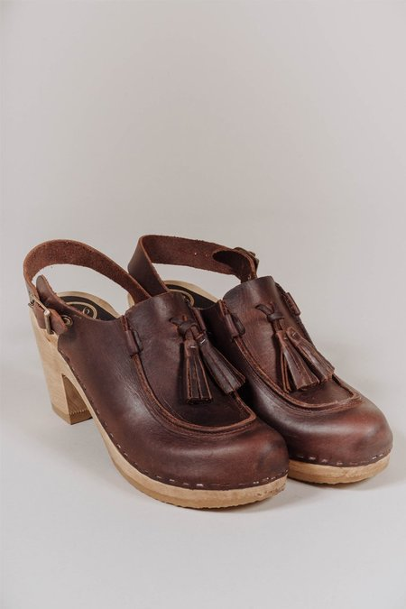 No.6 Crowley Tassel Clog in Acorn