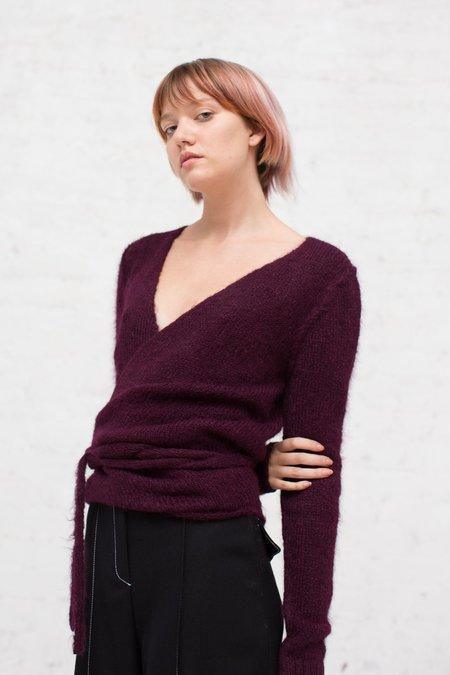 A Détacher Tiara Wrap Sweater in Bordeaux
