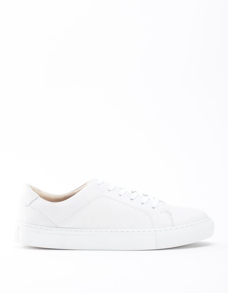 Garment Project New Classic Lace Sneaker- White Leather