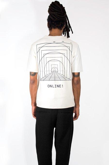 M Press White Dual Material T-shirt