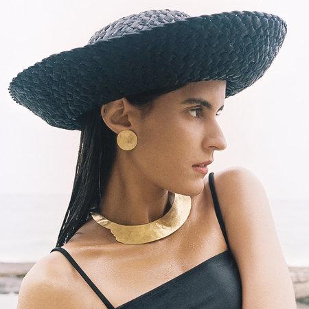 Crescioni terra earrings - brass