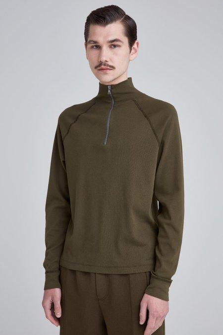 Our Legacy Halfzip Funnel - Dark Olive