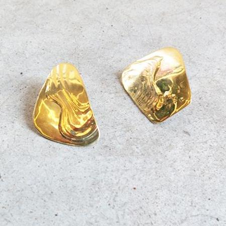 Leigh Miller Splatter Earrings in Brass
