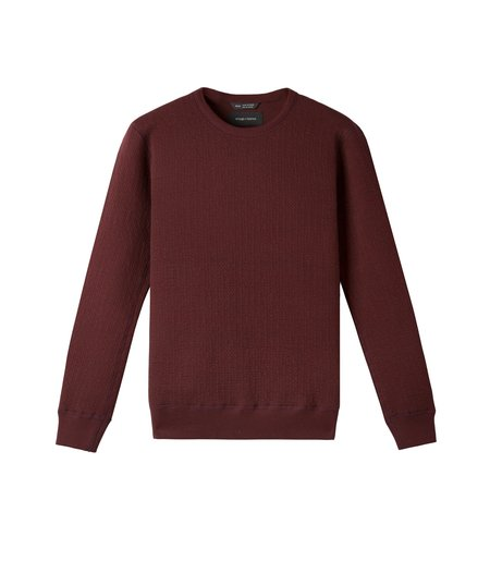 Wings + Horns Cabin Fleece Crew - Oxblood