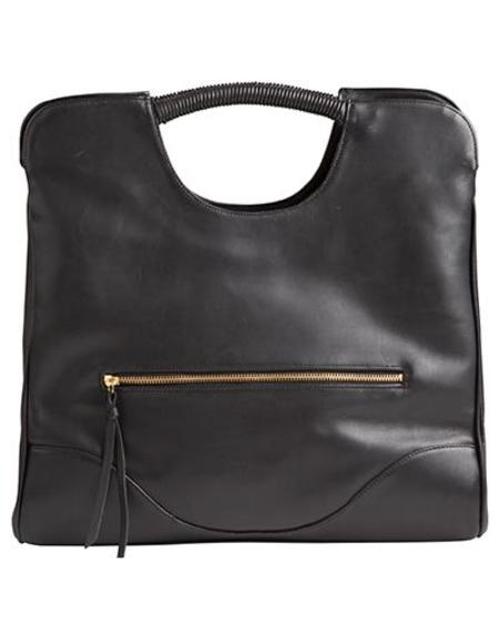 Oliveve Parker Tote In Black Cow Leather