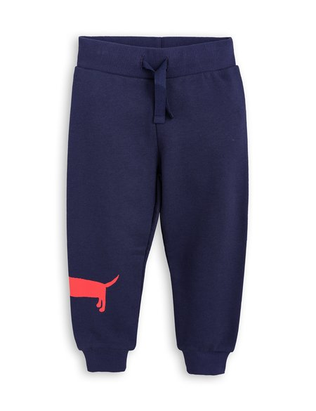 Kid's Mini Rodini Dog Sweatpants - Navy
