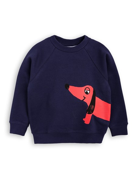 Kid's Mini Rodini Dog Sweatshirt - Navy