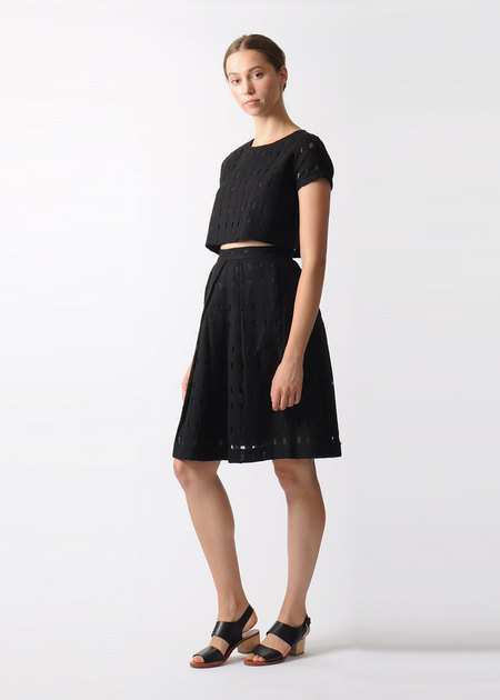 7115 by Szeki Wool Mesh A-line Skirt