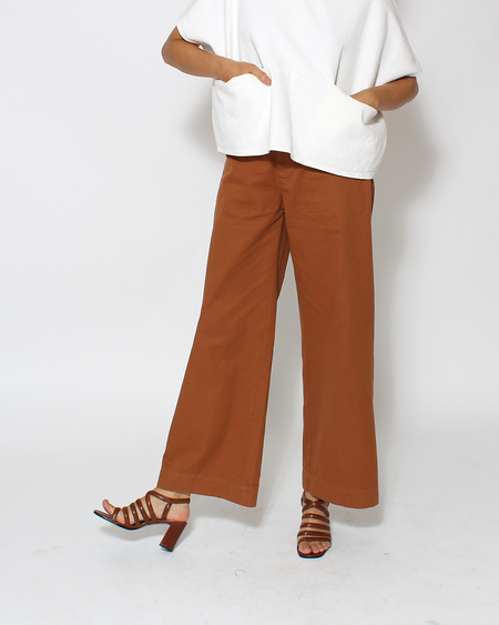 Esby Apparel Val Twill Pant in Clay