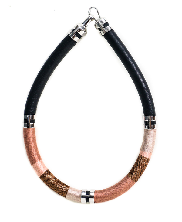 Lizzie Fortunato Double Take Necklace in Sand