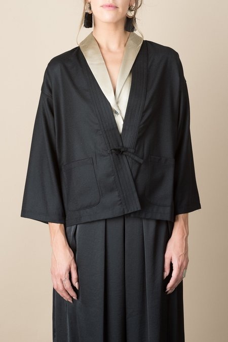 A Kind of Guise Oedo Cardigan In Black