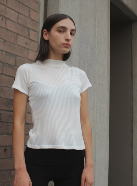 Shaina Mote Mock Neck Tee - bone
