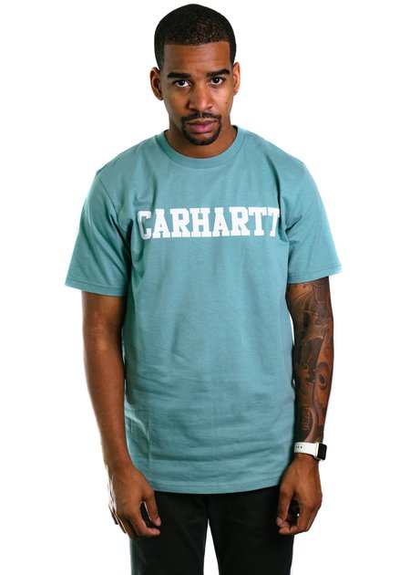 CARHARTT WIP S/S College T-Shirt - Soft Green/White
