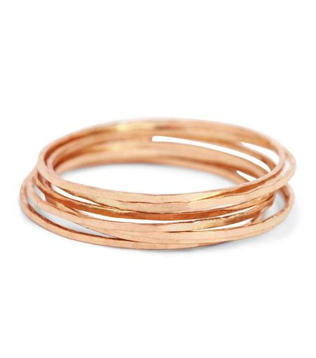 Catbird Threadbare Ring - 14k Rose Gold