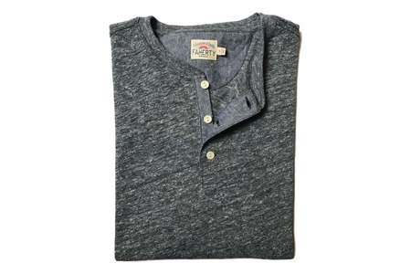 Faherty Brand HEATHER GREY HENLEY