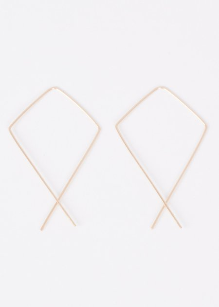 Lila Rice Large Kite Hoops Earrings