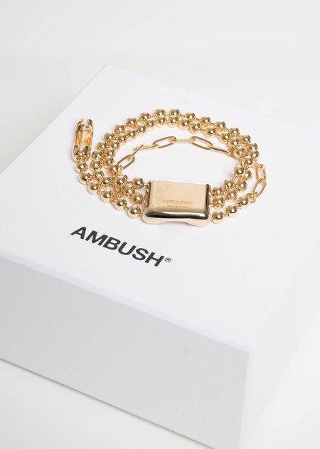 Ambush Gold Triple Ball Chain Bracelet