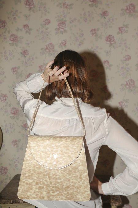 Maryam Nassir Zadeh Sophie Bag A in Blonde Tortoise Patent