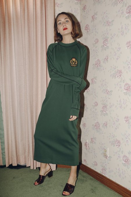 Suzanne Rae Sweatshirt Dress in Hunter Green