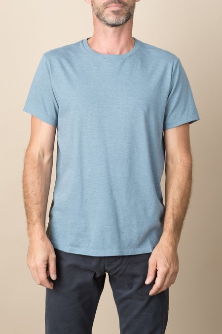 Save Khaki S/S Heavy Heather Jersey Crew Tee In Chambray
