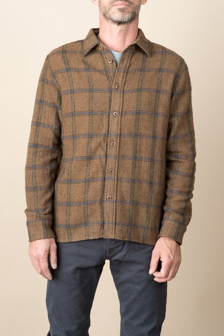 A Kind of Guise Shiro Shirt In Brown Check