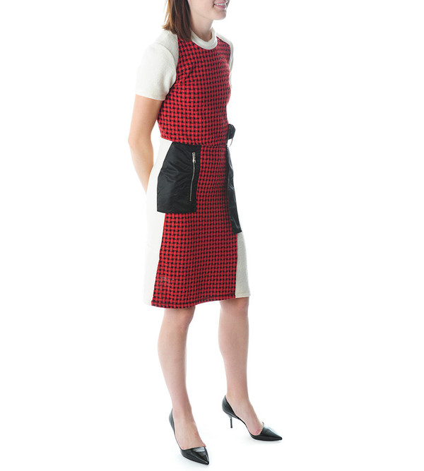 3.1 Phillip Lim Collage Dress w Wool Combo & Flight Pocket