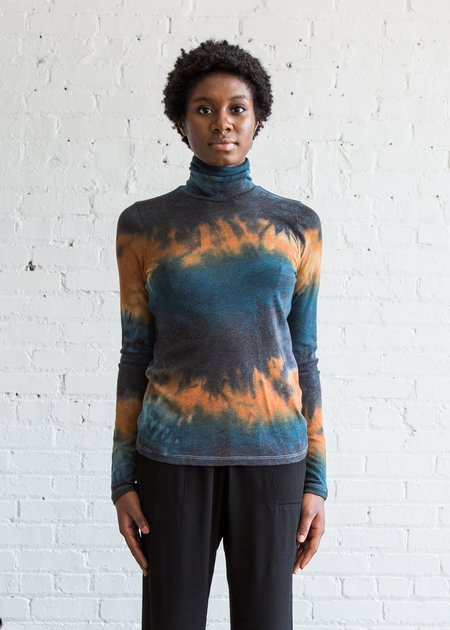 Raquel Allegra L/S Turtleneck Peacock Amber Tie Dye