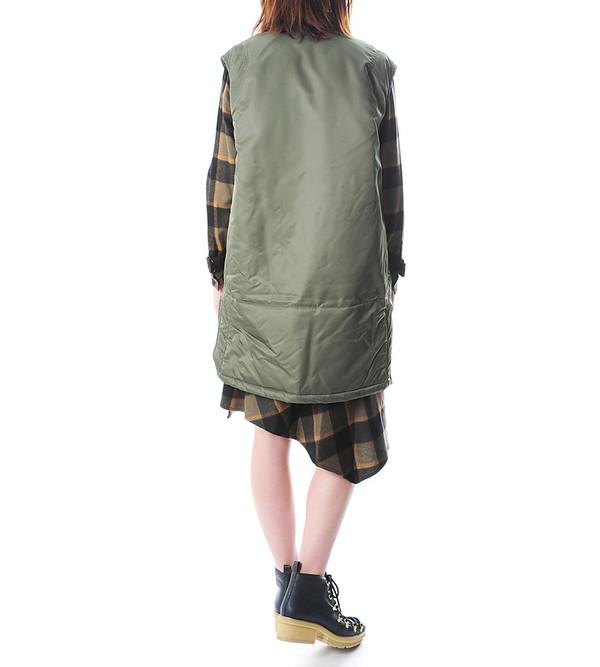 Flight Vest w Detachable Fur Stole