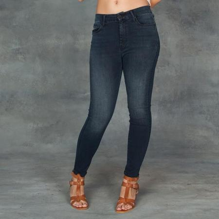 Mother Denim Mother Jeans High Waisted Looker Crop in My Wildest Ride