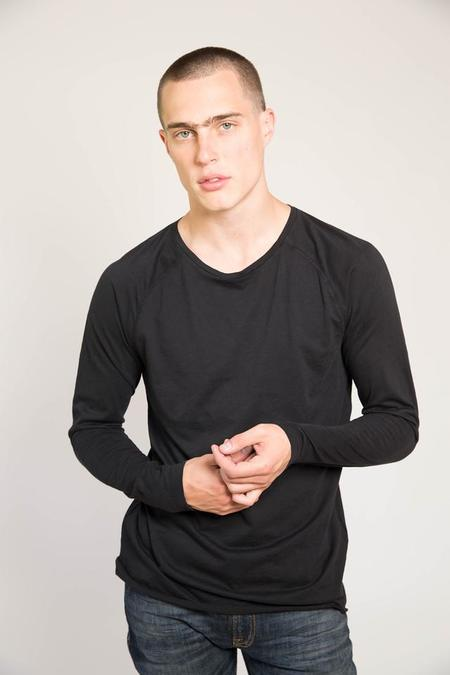 Nudie Otto Raw Hem Slub - Black