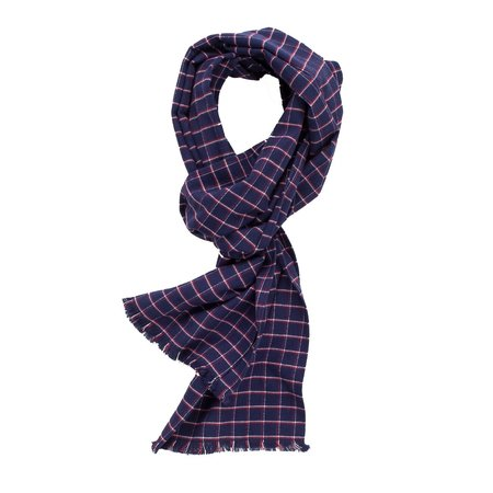 Corridor Blue Check Scarf