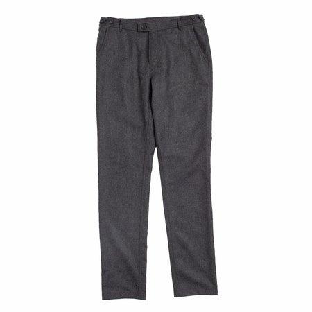 Corridor Charcoal Herringbone Lined Trousers