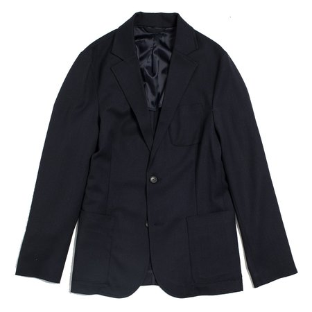 Corridor Navy Twill Wool Travel Blazer