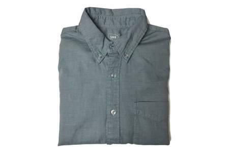 Save Khaki Button Down Collar Oxford - Storm Blue