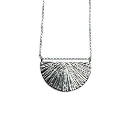 Amanda Hunt Silver Sunrise Necklace