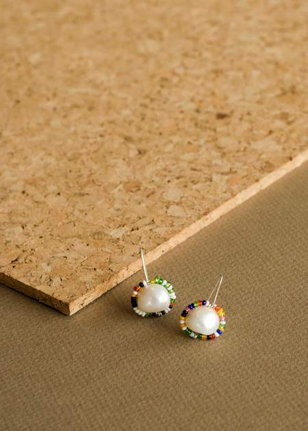 Zelda Murray Pearl Earrings - Multi